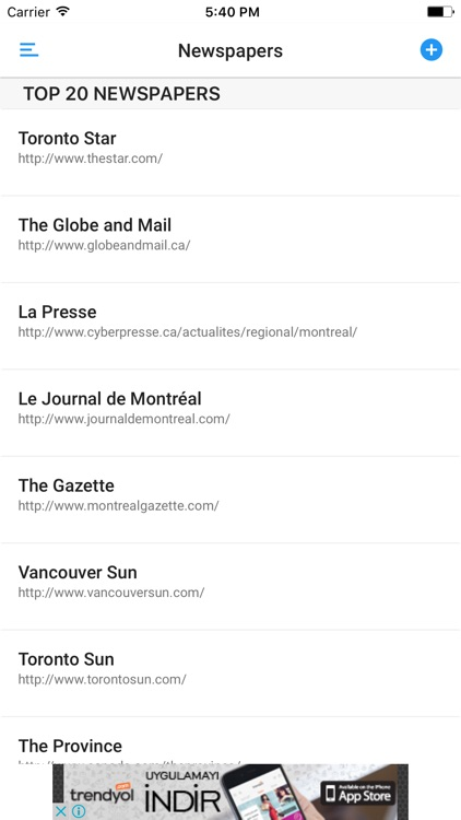CANADIAN NEWSPAPERS and MAGAZINES screenshot-0