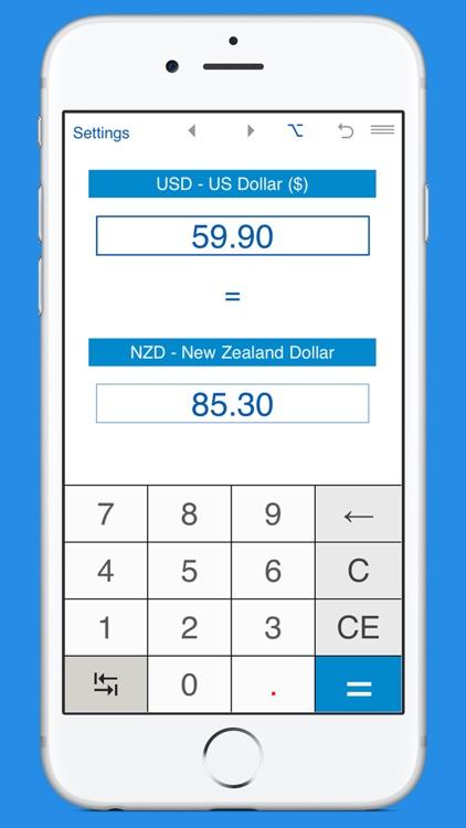 US Dollar / New Zealand Dollar currency converter