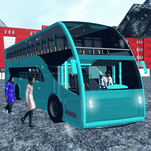 Offroad туристический снег автобуса - Hill Climb
