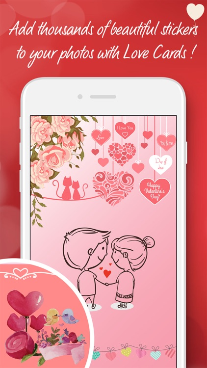Love cards - card creator for valentines day idea screenshot-3