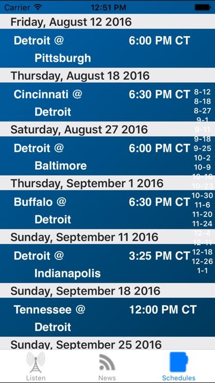 Detroit Football - Radio, Scores & Schedule screenshot-3
