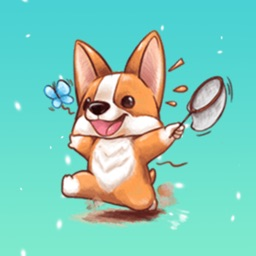 Cute Corgi Animated Sticker