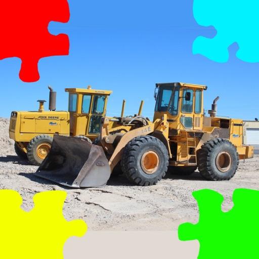 Bulldozer Excavator Jigsaw Puzzles with Backhoe
