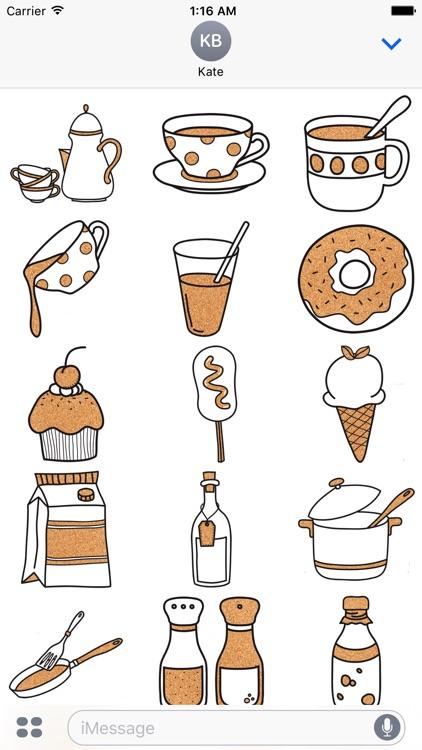 Kitchen Set - Cork Deco Stickers