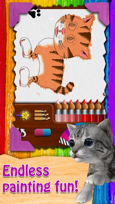 Paint My Cat - Color and Play Скриншоты6