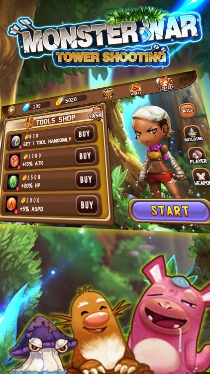Monster War(Tower Shooting)-Shoot Game screenshot-3