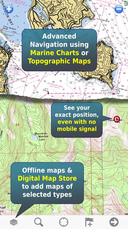 Memory-Map Topo Maps and Marine Navigation
