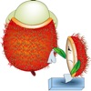 点击获取Chom Chom Rambutan Boy stickers by Hanna