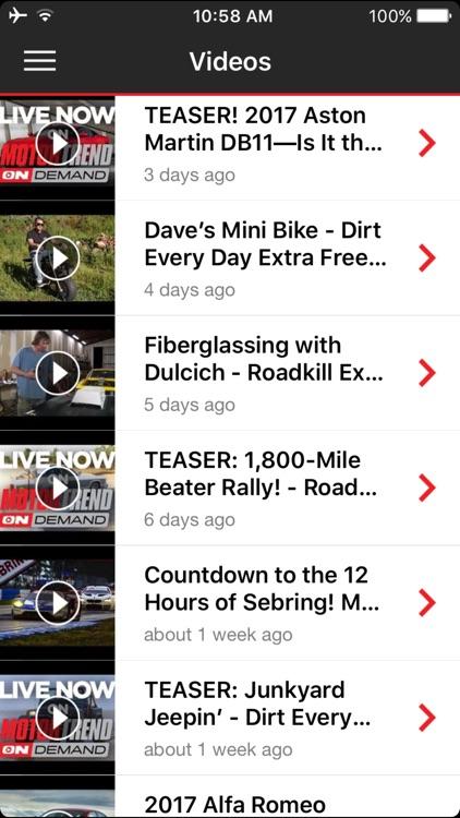 MOTOR TREND News screenshot-4