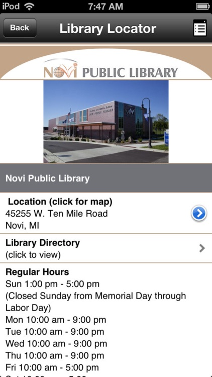 Novi Public Library Mobile screenshot-1