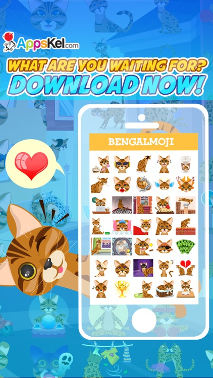 Bengalmoji – Bengal Cats Emoji & Stickers Pro screenshot-4
