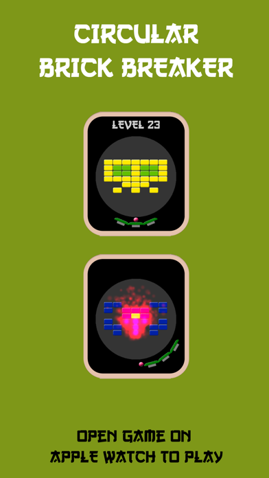 Circular Brick Breaker screenshot one