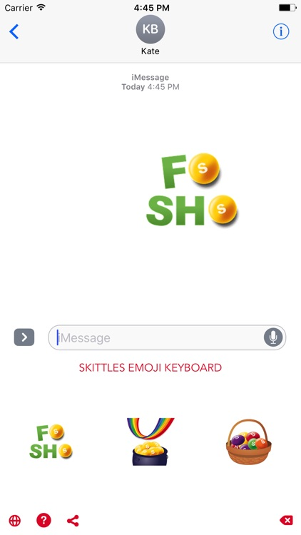 Skittles Emoji Keyboard screenshot-3