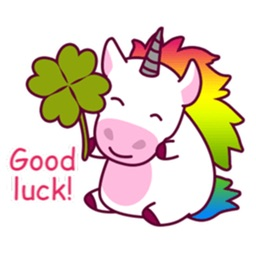 Lucky Rainbow Unicorn Sticker