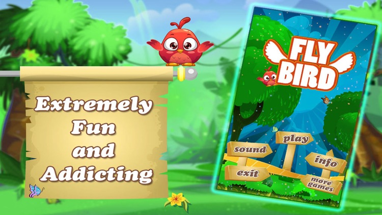 Fly Bird Simple Touch Jumping Platformer Game Play screenshot-3