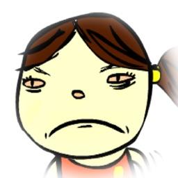 Grumpy Girl - Funny Stickers