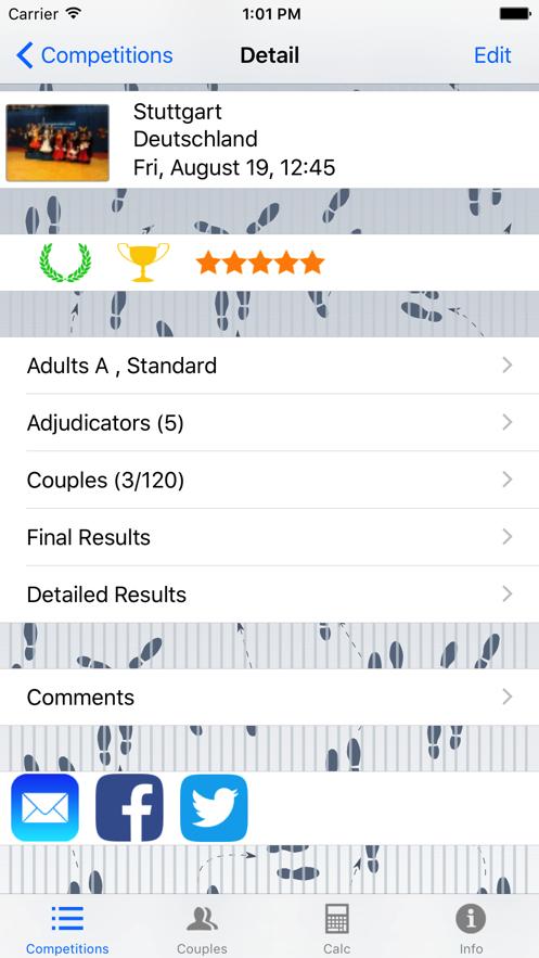 Dance Competition App 截图
