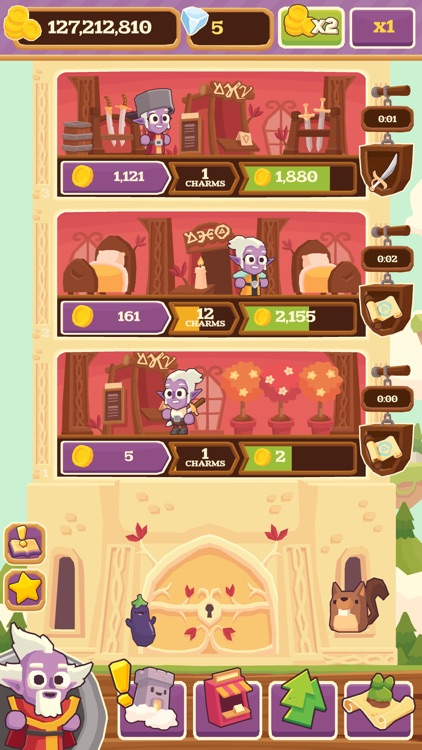 Charming Keep - Collectable Tower Tapper screenshot-3