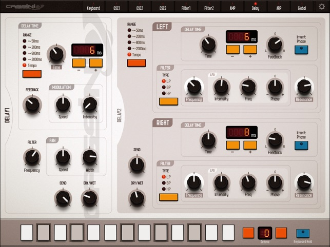 CASSINI Synthesizer for iPad Screenshot