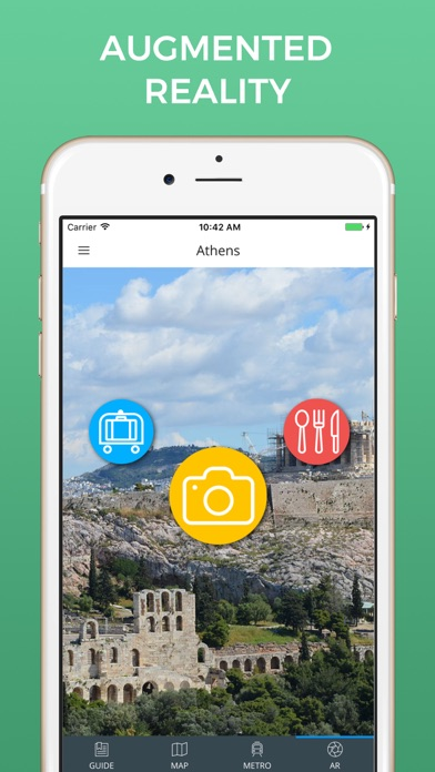 Athens Travel Guide with Offline Street Map screenshot two