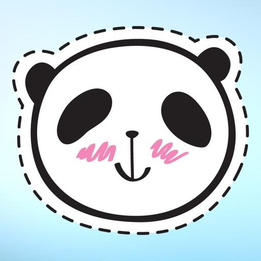 Panda Bear Patches Sticker Pack