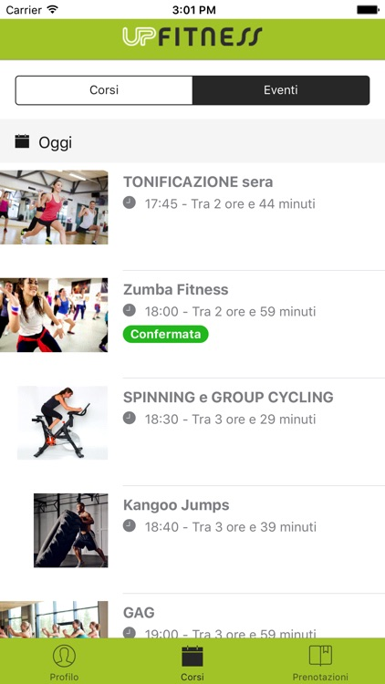 UP Fitness Mobile app image