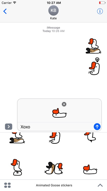 Animated Goose Stickers For iMessage