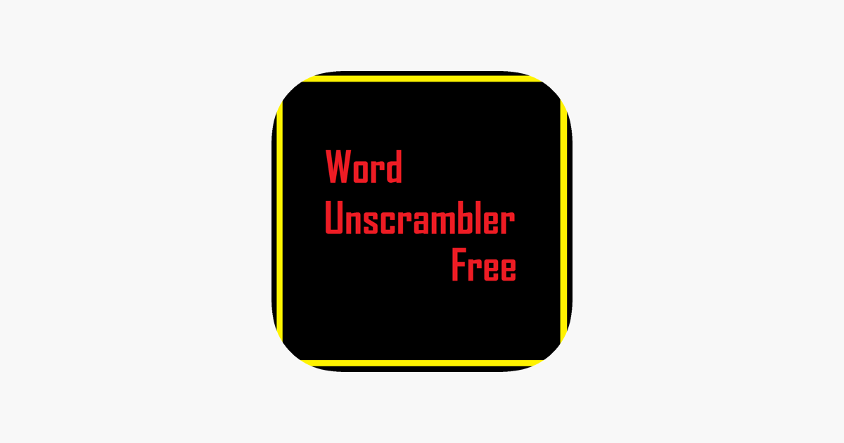 Word Unscrambler Free on the App Store
