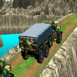 army truck drove forestry