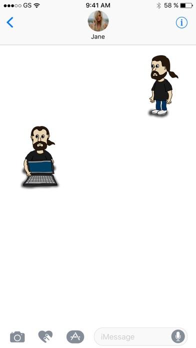 漫画の男ステッカーパックのスクリーンショット3