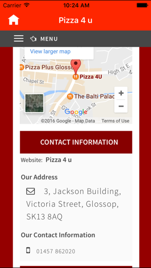Pizza 4 U Glossop On The App Store