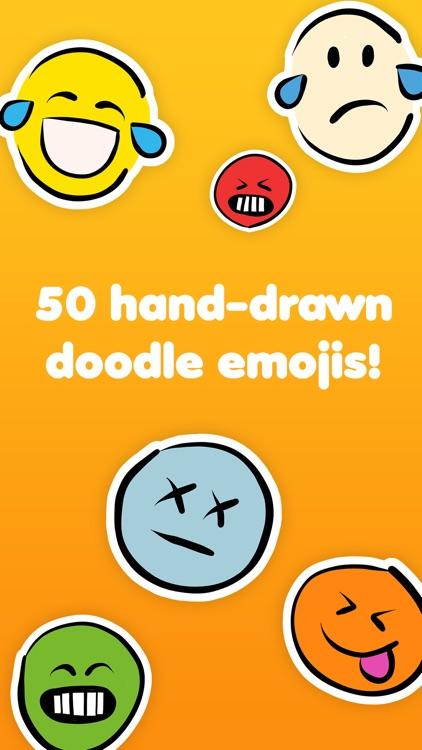 Doodlemoji - Hand-drawn funny emoji stickers