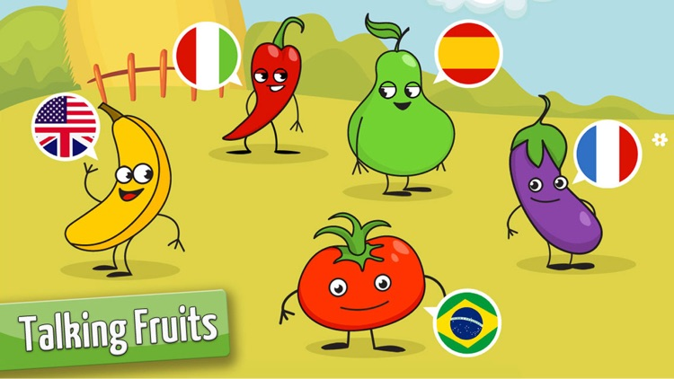 Learning games kids & Toddlers: Fruits Shape Free