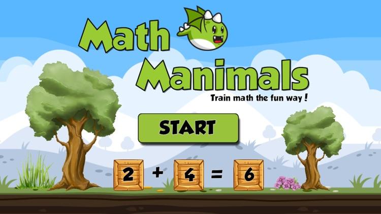 Math Manimals - Train math the fun way screenshot-0