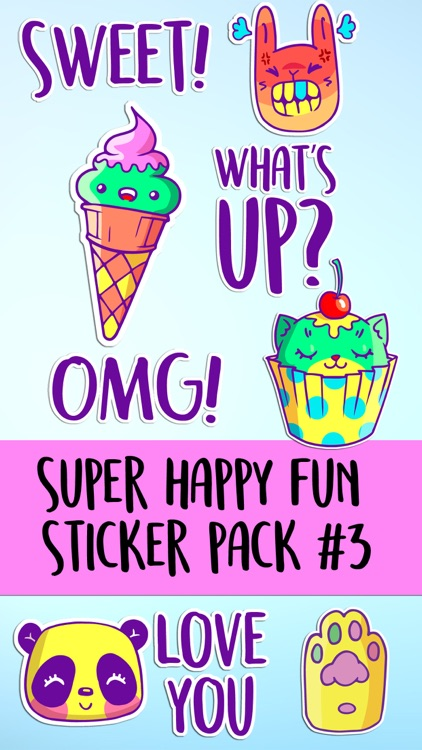 Super Happy Fun Neon Retro Sticker Pack