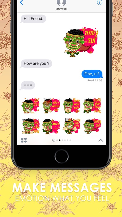 Giant Version Thai Stickers for iMessage