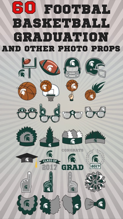 Michigan State Spartans Pro Photo Booth Stickers