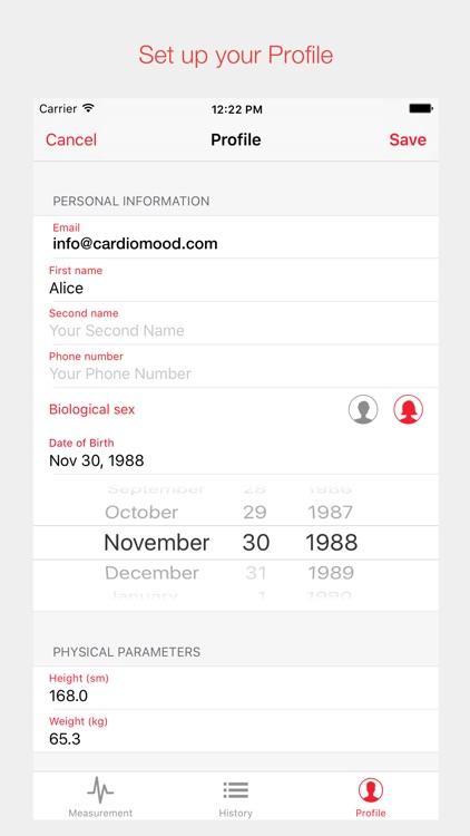 CardioMood - heart rate variability expert tool screenshot-4