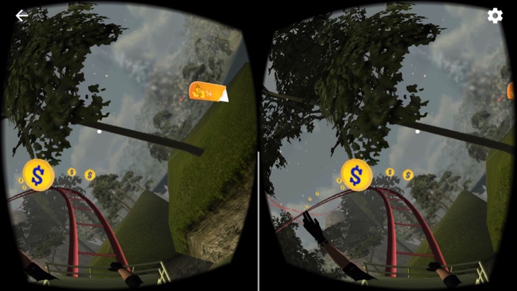 VR Roller Coster Rush Cardboar screenshot-1