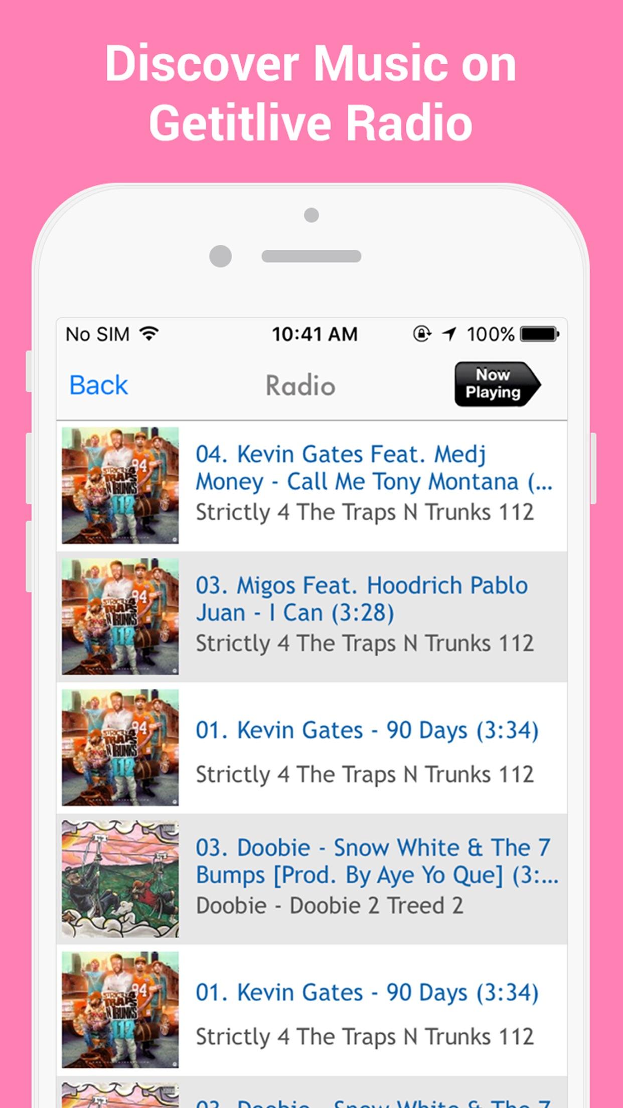 GetItLive - rap/hiphop livemixtapes & radio Screenshot