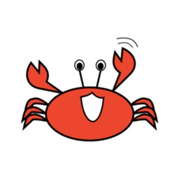 Red Crab Stickers