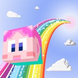 Pixel Parkour On The Colorful Cloud