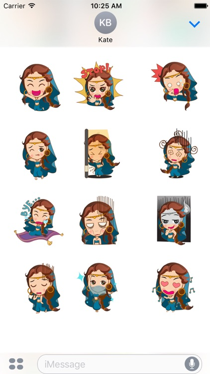 Cute arabian princess for iMessage Sticker