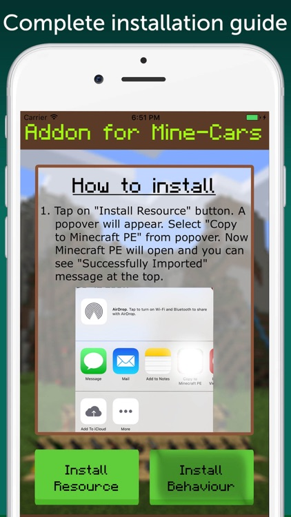 MineCars AddOn for Minecraft PE screenshot-0