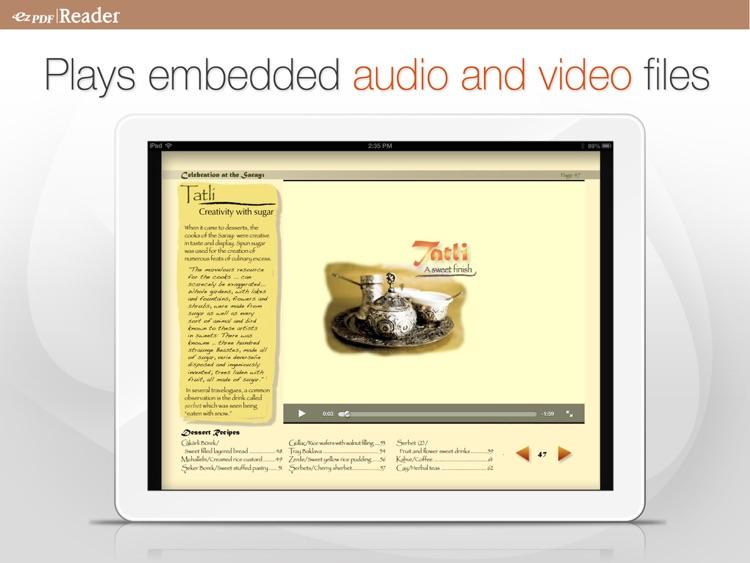 ezPDF Reader: Interactive PDF Reader for iPad