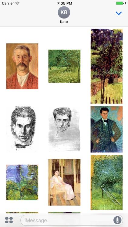 Richard Gerstl Artworks Stickers