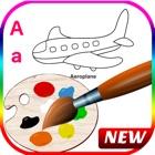 ABC английский алфавит книжка-раскраска для детей icon