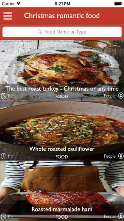 Christmas romantic food