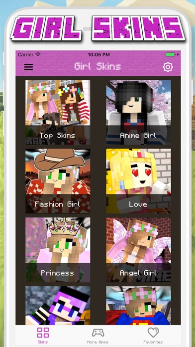 Download Girl Skins for Minecraft PE - MCPE Skins Free for Pc