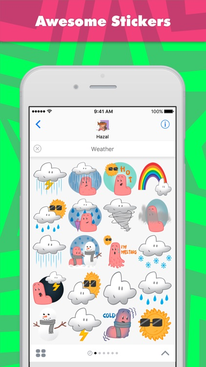 Weather stickers by Hazal
